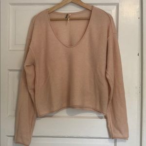 Forever Cashmere V Neck Sweater from Free People